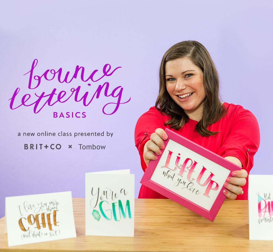 Tombow Bounce Lettering Class